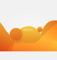 abstract orange liquid color background vector image vector image