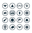 accessories icons universal set vector image