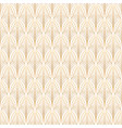 art deco seamless pattern gold on white vector image vector image