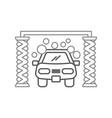 automatic car wash shampoo service center icon vector image