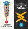 Back to school creative banner vector image
