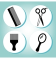 barber shop design vector image