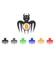 bitcoin happy spectre devil icon vector image vector image