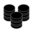 black database hosting icon image design vector image vector image