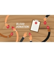 blood donation concept people give their to other vector image vector image