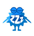 blue blob saying zzz cute emoji character with vector image vector image