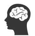 brain storming mind icon vector image vector image
