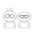 cartoon grandparents design vector image vector image