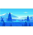 Cartoon nature seamless landscape with trees and vector image vector image