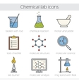 Chemical lab icons vector image vector image