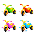Child 3-wheel car vector image
