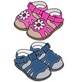 Child s sandals vector image vector image