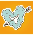 Cloud heart with arrow vector image vector image