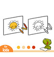 coloring book kids drawing vector image vector image