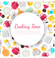cooking time banner template with place for text vector image vector image