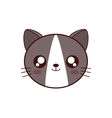 cute cat kawaii style vector image vector image