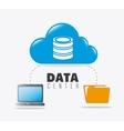 Database digital design vector image