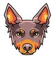 dog head mascot logo vector image