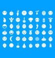 emoji icon blue set vector image