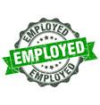 employed stamp sign seal vector image vector image