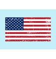 Flag USA sign Grunge National symbol freedom vector image