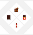 flat icon chocolate set of chocolate bar sweet vector image vector image