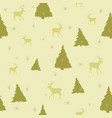 golden seamless christmas pattern vector image vector image