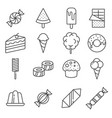 gray candy icon set on background vector image vector image