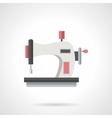 Hand sewing machine flat color icon vector image