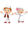 Happy Muslim kid vector image vector image