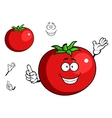 Happy waving tomato with a cute smile vector image vector image