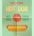 hot dog menu price vector image