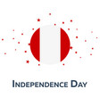 independence day of peru patriotic banner vector image