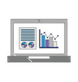 laptop computer with statistics graphics isometric vector image