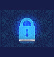 lock screen password key data computer security vector image