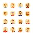 Man Avatar Icons Cartoon Round vector image