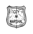 marshal badge vector image vector image