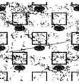 Monitor pattern grunge monochrome vector image vector image