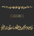 nature template coffee tree vector image