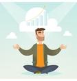 Peaceful business woman doing yoga vector image vector image