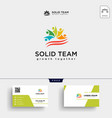 people community logo template vector image vector image
