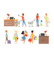 people queue grocery store customers apparel vector image
