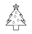 Pine tree isolated icon
