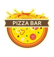 pizza and fries icon for pizza bar vector image vector image