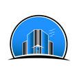 real estate city buildings logo vector image