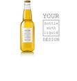 Realistic beer bottle vector image
