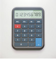 realistic electronic calculator vector image vector image