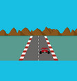 retro pixel art style race car game vector image