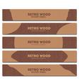 retro wood banner vector image