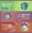 science of earth exploration of space geophysics vector image vector image